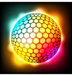 Glowing Golf Ball vector