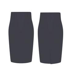 Grey skirt vector