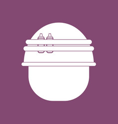 Icon military helmet with bullets vector