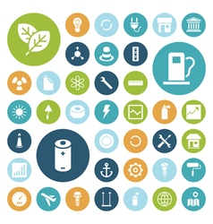 icons for industrial energy and ecology vector image