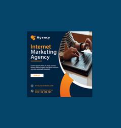 Internet marketing agency banner template design vector
