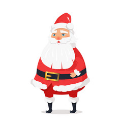 Isolated standing santa clause on white background vector