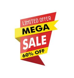 Limited offer mega sale banner white background vector