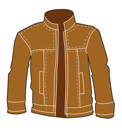 men leather jacket vector image vector image