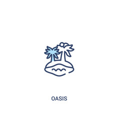 Oasis concept 2 colored icon simple line element vector