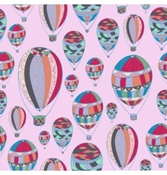 pattern with aerostats vector image