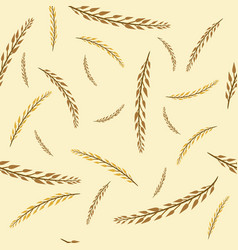 pattern with autumn golden and yellow branches vector image