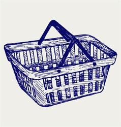 Plastic basket vector