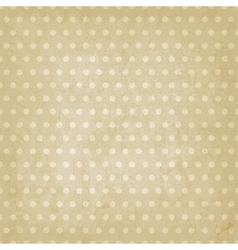 polka dot pattern old background vector image