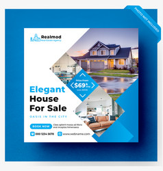 Real estate social media banner template vector