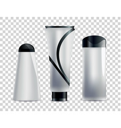 realistic blank cosmetic tubes set unbranded vector image