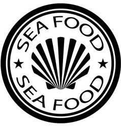 Sea food shell stamp vector