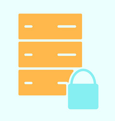server lock network icon simple minimal pictogram vector image