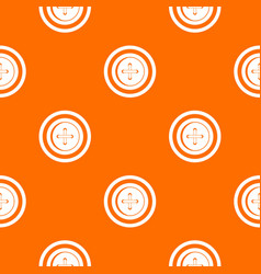 sewing button with a thread pattern seamless vector image