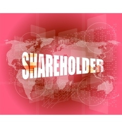 Shareholding internet marketing business digital vector
