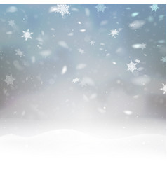 stock falling snow snowflakes vector image