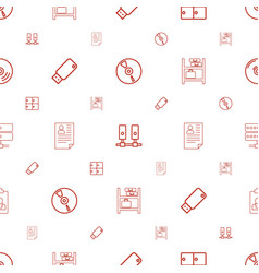Storage icons pattern seamless white background vector