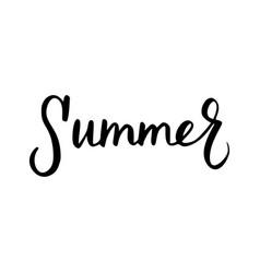 Summer inscription brush vector