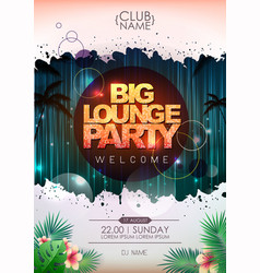 Summer party poster design big lounge party vector
