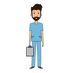 Surgeon professional man of health vector