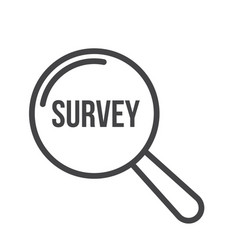 survey word magnifying glass vector image