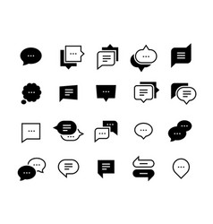 Talk bubble icons chat message symbol social vector
