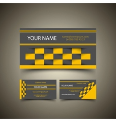 Taxi business card set vector image