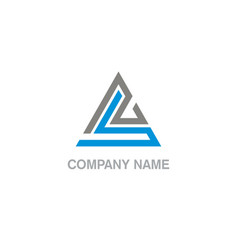 triangle line business company logo vector image