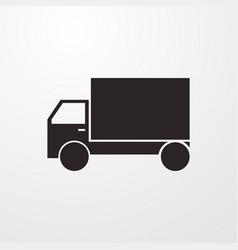 Truck sign icon symbol flat icon flat vector
