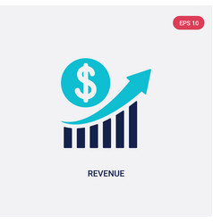 Two color revenue icon from business and vector