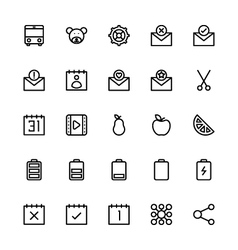 User interface colored line icons 23 vector