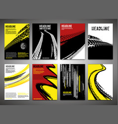 Vertical tire banners vector