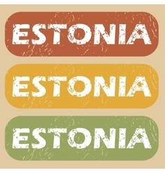 Vintage Estonia stamp set vector