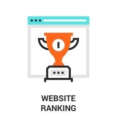Website ranking icon vector