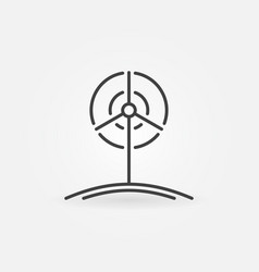 wind turbine outline icon vector image vector image