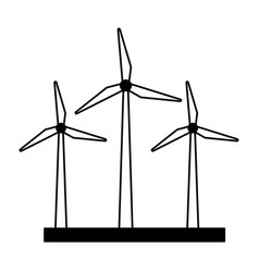 wind turbines energy vector image