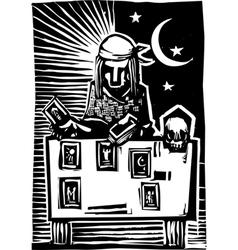 Gypsy Tarot Card Reading A vector image vector image