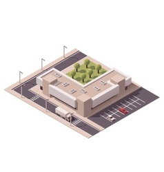 isometric shopping mall vector image