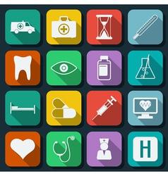 Medicine icons vector image