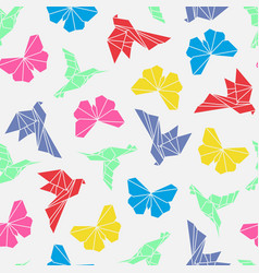 origami birds seamless vector image vector image