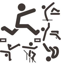 parkour icons set vector image