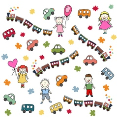 toys pattern vector image vector image