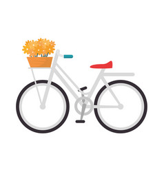 vintage bicycle icon vector image