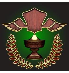 wooden award vector image vector image