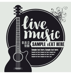 acoustic guitar for live music vector image vector image