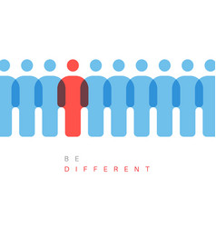 Be different concept vector