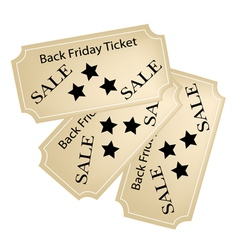 Black Friday Tickets for Christmas Shopping Season vector image