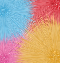 Colorful fantastic dandelions abstract flowers vector image vector image