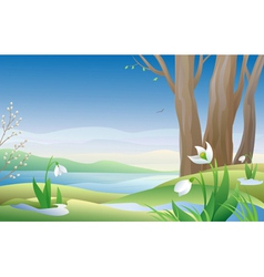 Early spring vector image vector image
