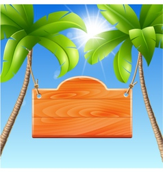 for a summer holiday by the sea vector image vector image